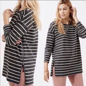 Lou & Grey Striped Popover Sweatshirt size Small